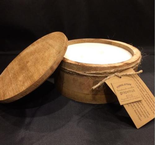 Himalayan Trading Post Mountain Barrel Candle Bourbon Vanilla  20oz
