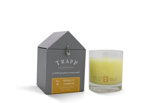 No. 8 Trapp Candles Fresh Cut Tuberose - 7oz. Poured Candle