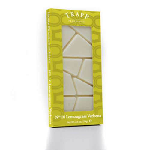 No. 10 Trapp Lemongrass Verbena - 2.6 oz. Home Fragrance Melts