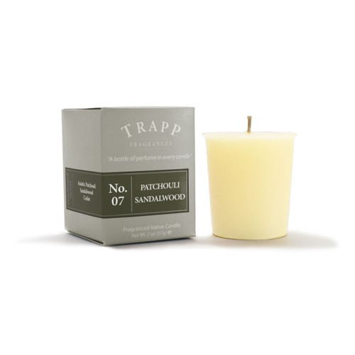 No. 7 Trapp Candle Patchouli Sandalwood - 2oz. Votive Candle