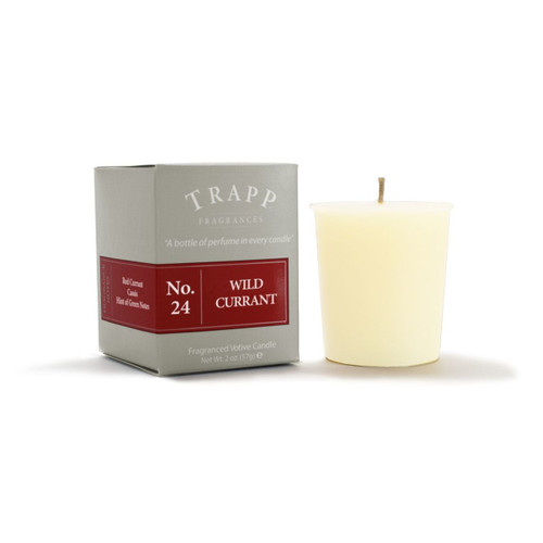 No. 24 Trapp Candle Wild Currant - 2oz. Votive Candle