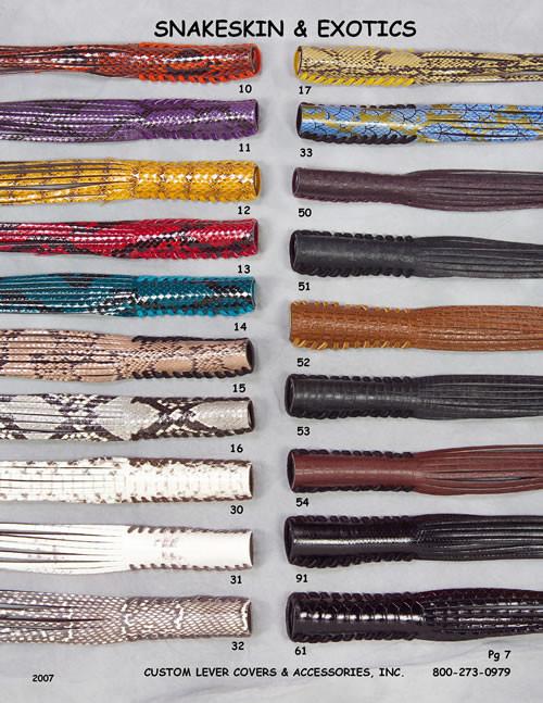 Snakeskin & Exotics Lever Covers