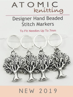 Antique Tibetan Silver Tree Stitch Markers