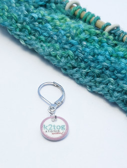 k2tog stitch marker (shown with removable/6mm crochet clasp)
