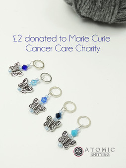 Charity Butterfly Stitch markers