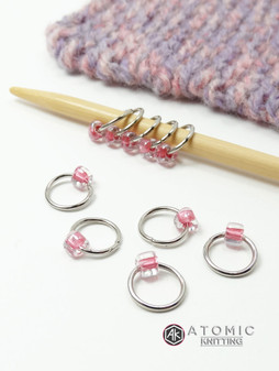 Perfect Pink Jewel Stitch Markers