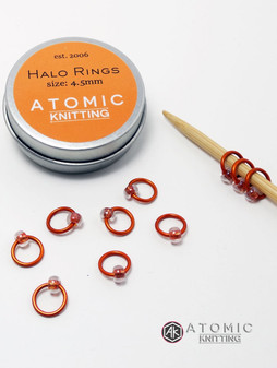 New tin design - halo rings by Atomic Knitting