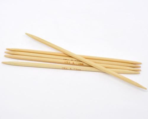 1 Set 13cm DPN Bamboo Knitting Needle UK Size 3.75
