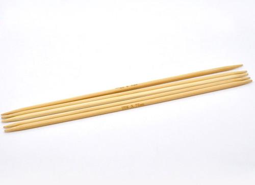 1 Set 20cm DPN Bamboo Knitting Needle Size 3.75mm