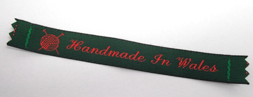 'Handmade in Wales' Woven Label x 4