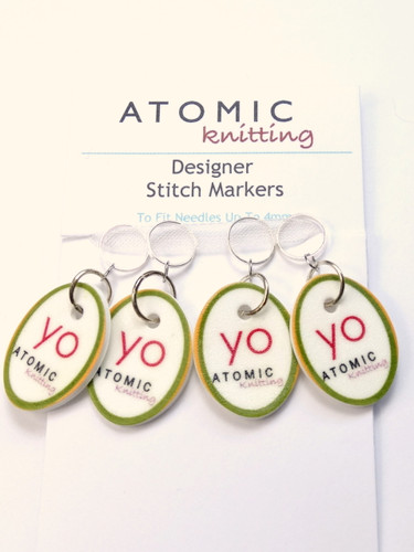 Yarn Over Instructional Stitch Markers   Atomic Knitting