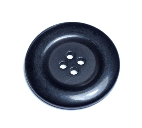 Round Acrylic Button - Black - 38mm