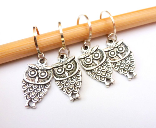 owl stitch markers for knitting and crochet