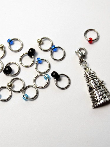 15 Jewel Rings Lace Markers 4mm - Time Traveller -  Studio Special