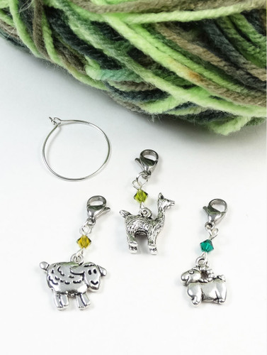 Flock Stitch Markers with Make Your Mark | Atomic Knitting
