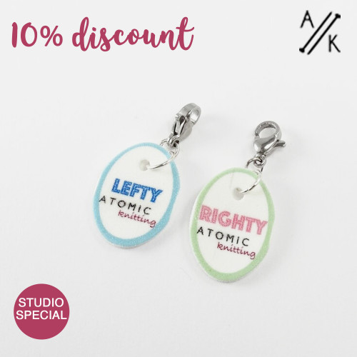 Instructional Stitch Markers - Righty & Lefty - SECONDS