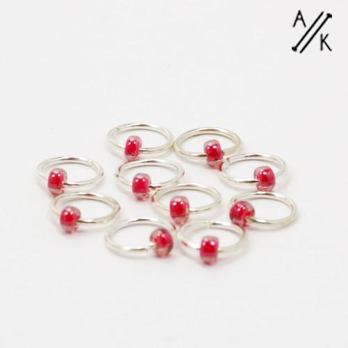 Berry 5mm Jewel Stitch Markers