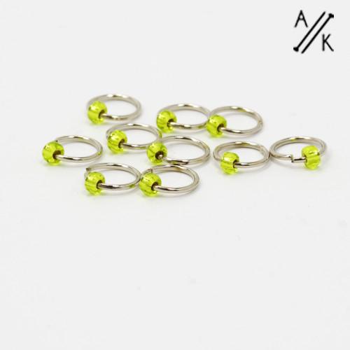 Lime 5mm Jewel Stitch Markers
