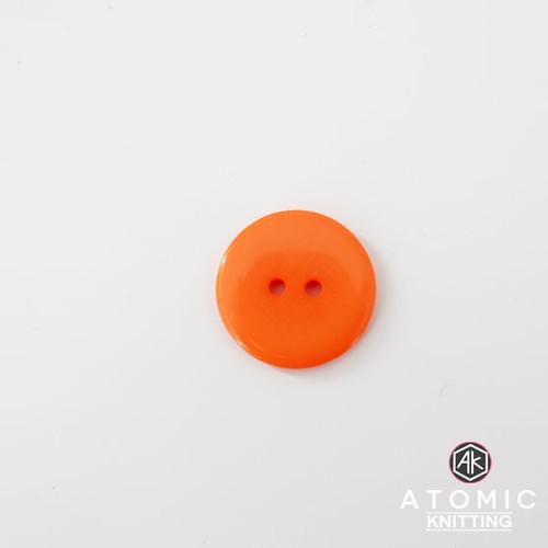 Round Acrylic Button 2 holes - Orange - 22mm