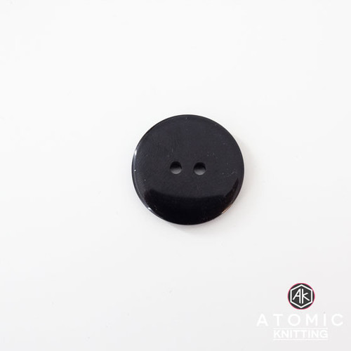 Round Acrylic Button 2 holes -Black - 22mm