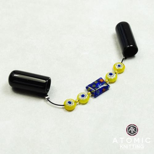 New! DPN Needle Keeper Holder - Yellow/Blue Millefiori