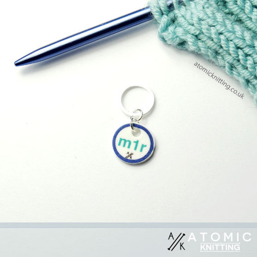 Instructional Stitch Marker (shown with solid snag free ring)