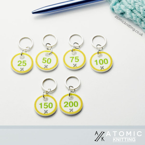 Counting Stitch Markers 25, 50, 75, 100, 150, 200