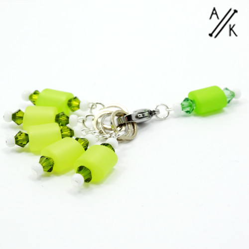 Italian Resin and Crystal Knitting Stitch Markers