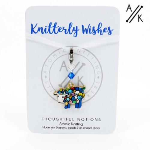 Knitterly Wishes Sheep Charm Progress Stitch Marker | Atomic Knitting