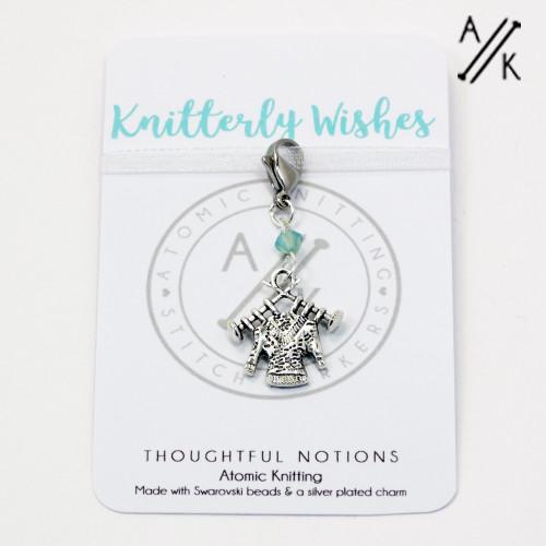 Knitterly Wishes Charm Progress Marker   Atomic Knitting