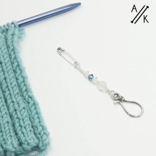 Rose Quartz & Swarovski Crystal Portuguese Knitting Pin | Atomic Knitting