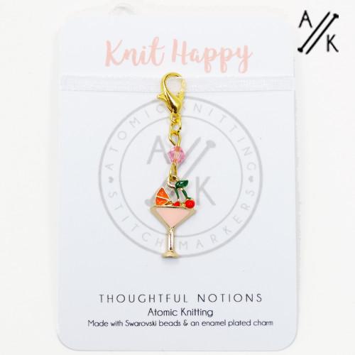 Knit Happy Charm Progress Marker | Atomic Knitting