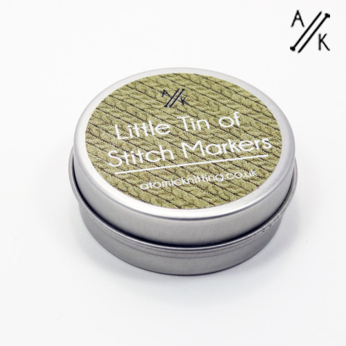 Little Tin of Stitch Markers - Tin Only | Atomic Knitting