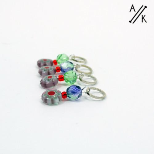 Millefiori Stitch Markers | Atomic Knitting