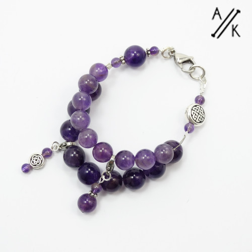 Amethyst Counting Abacus Bracelet Row Counter | Atomic Knitting