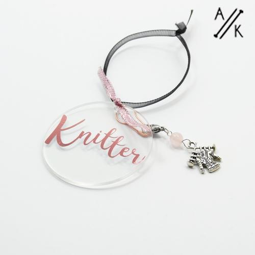 Knitter Tree Decoration with Stitch Marker | Atomic Knitting