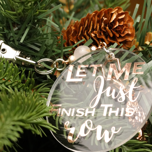 Finish this row Tree Decoration with Stitch Marker | Atomic Knitting
