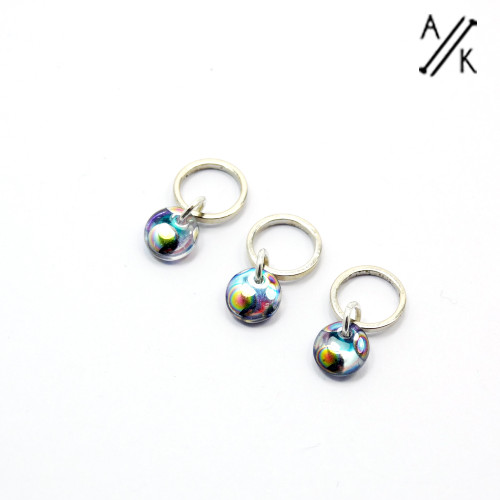 Shimmer drop stitch markers | Atomic Knitting