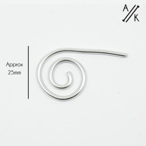 Aluminium Spiral Cable Needle Stitch Holder   Atomic Knitting