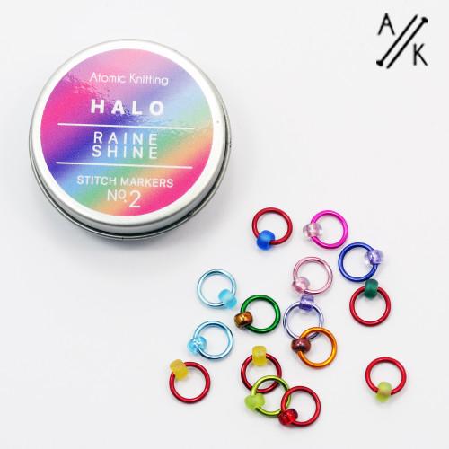 Halo Stitch Markers & Tin | Atomic Knitting