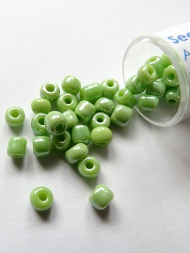 Seed Beads 6/0 Opaque Light Green - 10g
