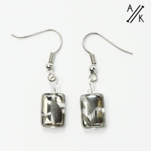 Grey Lustre Earrings