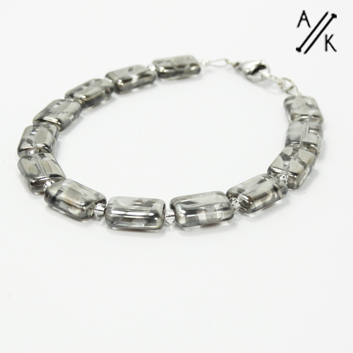 Grey Lustre Bracelet