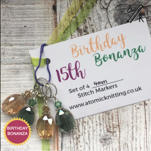 15th Birthday Bonanza Stitch Marker Set