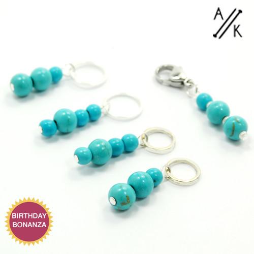 Gemstone Stitch Marker Set