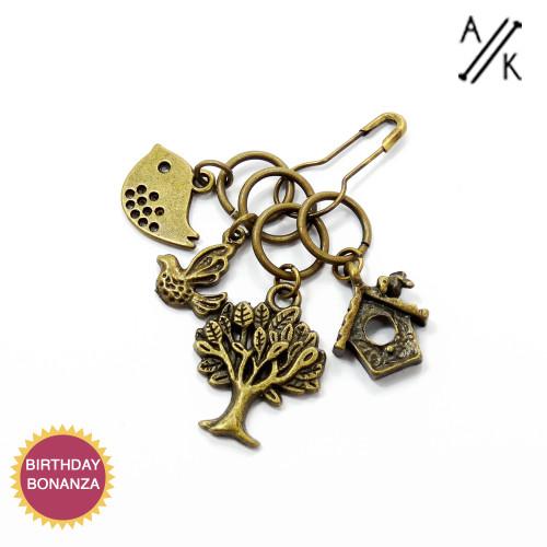 Bronze Mix A  Knitting & Crochet stitch markers x 4