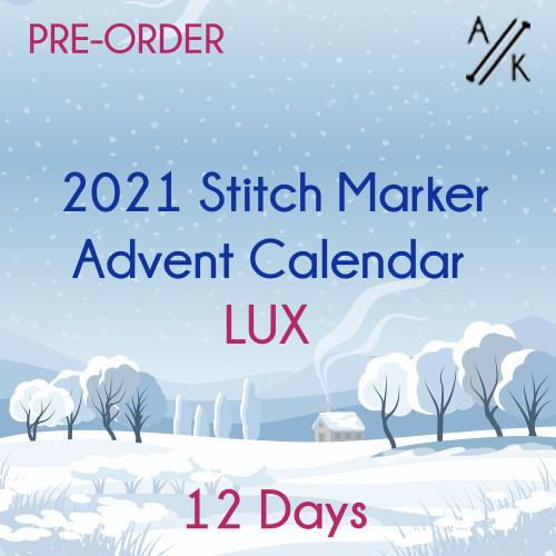 2021 LUX MINI Stitch Marker HALF Advent Calendar - 12 Days | 20 Special Markers