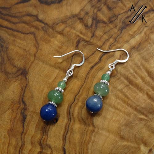Blue and Green Aventurine earrings | Atomic Knitting