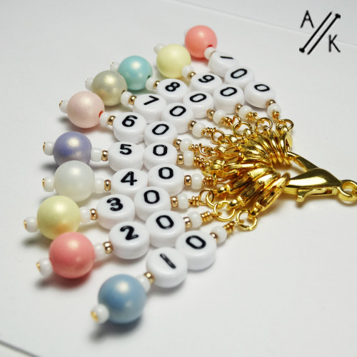 Up in the Clouds - Numbered Counting Stitch Markers set of 10