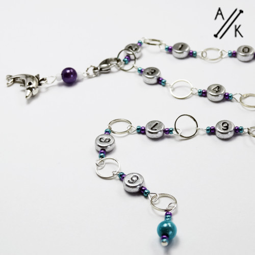 Under The Sea - Dolphin - Silver Numbered Chain 99 | Atomic Knitting